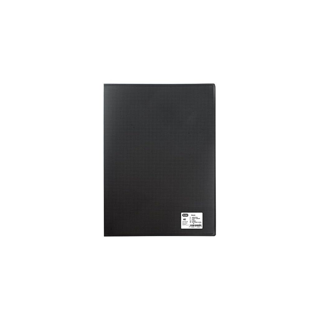 Elba 100206505 Portalistino con 20 Buste Formato Interno 29,7X42 cm Nero