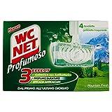 Wc Net - Detergente per WC, 3 Effect: Igienizza, Profumo Duraturo, Anticalcare - 6 confezioni da 4 pezzi da 35 g [24 pezzi, 840 g]