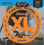 D'Addario Cordes pour guitare électrique avec revêtement D'Addario EXP110, Light, 10-46