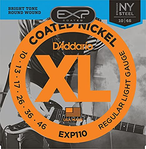 D'Addario EXP110 EXP Coated Nickel-Plated Steel Regular Light (.010-.046) Electric