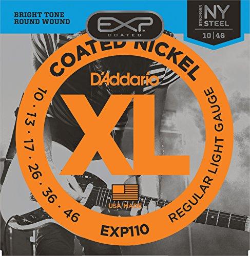 D'Addario EXP110 - Juego de cuerdas para guitarra eléctrica de acero y níquel.010 - .046