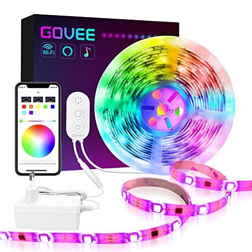 Govee Dreamcolor LED Strip Lichtband, 5M LED Streifen WiFi Drahtlos Handy Streuerbare 5050 LED Band Sync mit Musik, kompatibel mit Alexa, Google Assistant Android iOS (Nicht unterstützt 5G WiFi)