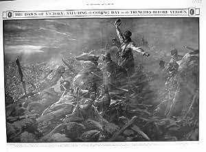 1916 FOSSÉS DE SALUTATION VERDUN FRANCE PAUL THIRIAT DE SOLDATS DE VICTOIRE DE GUERRE