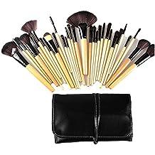 Abody 32Pcs Set de brochas de maquillaje kit de pala pinceles cosméticos profesional compone + bolsa funda