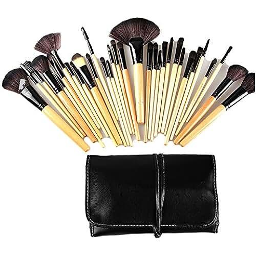 maquillaje unicornio kawaii Abody 32Pcs Set de brochas de maquillaje kit de pala pinceles cosméticos profesional compone + bolsa funda
