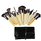 Keral 32 Stücke Make Up Pinsel set mac profi Kosmetik Make-up Pinsel mit Halter Tasche Beige