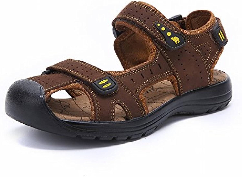 YTTY Mode Ledersandalen Komfort All Match Pantoffeln Slip Tragbare Männliche Sandalen