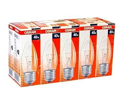 10 x Osram Glühbirne Kerze 40W E27 klar Glühlampe Glühbirnen Glühlampen 40 Watt Kerzen von Osram - Lampenhans.de