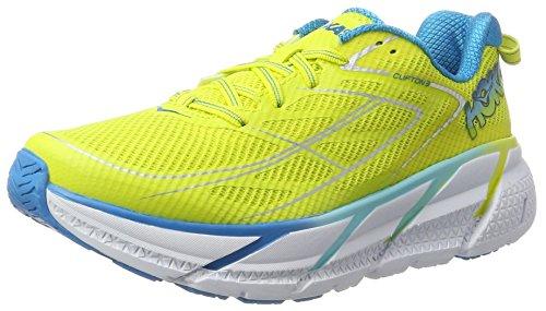 Hoka One One Clifton 3, Zapatillas de Running para Mujer, Amarillo (Citrus/Blue Jewel), 40 EU