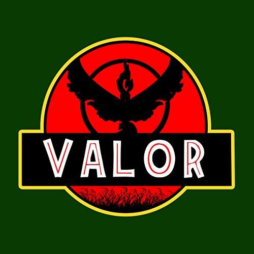 Team Valor Jurassic Park Pokemon Go Women's T-Shirt Bottle Green