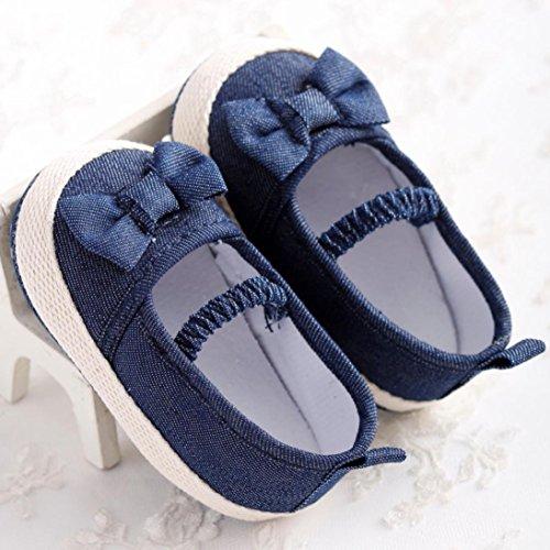 Ouneed® Krabbelschuhe , Baby Säuglingskind Mädchen weiche alleinige Krippe Kleinkind neugeborene Schuhe Dunkelblau