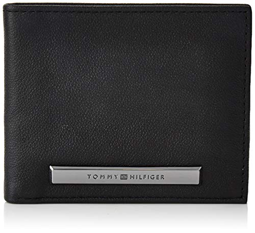 Tommy hilfiger corp plaque mini cc wallet, borse uomo, nero (black), 1x1x1 centimeters (w x h x l)
