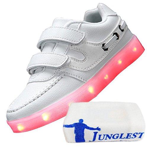(Present:kleines Handtuch)JUNGLEST® 7 Farbe USB Aufladen LED Leuchtend Sport Schuhe Sportschuhe High Top Sneaker Turnschuhe für Unisex-Erwa c15