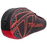 #3: Triumph Pro-302 (New) Single Compartment Badminton Bag Black/Red, 6 Racket badminton kit Bag
