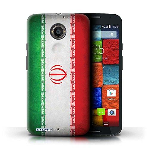 Kobalt® Imprimé Etui / Coque pour Motorola Moto X (2014) / Iran conception / Série Drapeau Iran