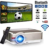 Wireless Video Projector 5000 Lumens Android WiFi Home Theater Cinema Smart Projector