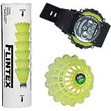 LS-375 Flintex Badminton Nylon Shuttlecocks (Pack Of Six) With A Free Digital Watch.