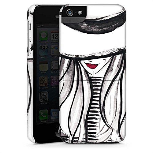 Apple iPhone X Silikon Hülle Case Schutzhülle Girl Mädchen Mode Premium Case StandUp
