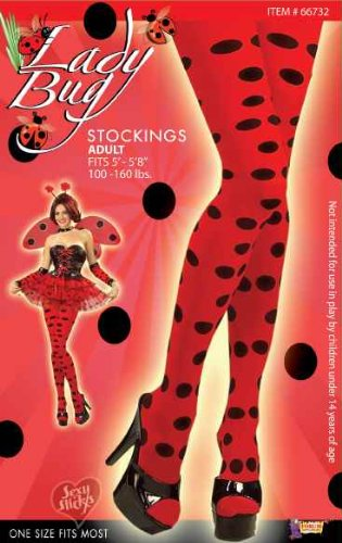 Red & Black Polka Dot Lady Bug Stockings -