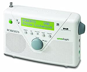 Roberts Unologic DAB/FM RDS Digital Radio with Built-in Battery Charger - White