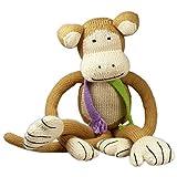 Mama Ocllo Bio Kuscheltier, Affe 39cm, Baumwolle, Fairer Handel, Handmade, Babygeschenk