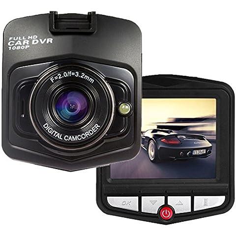 Grabadora de vídeo de coche, Upintek Full HD 1080P grabadora de cámara Dvr coche con lente ancha de ángel, Soporte G-sensor de detección de movimiento Loop Recorder Salida