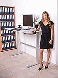 Höhenverstellbarer Schreibtisch in Weiß Ergonomisch Elektrisch B 160 cm x T 80 cm Bürotisch Arbeitstisch Workstation Arbeitszimmer (B 160 cm x T 80 cm, Weiß) - 6