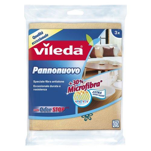 Vileda Pannonuovo Panno Multiuso con Speciale Fibra Antialone ed Odor Stop, per Prevenire la Formazione (Formazione Tedesco)