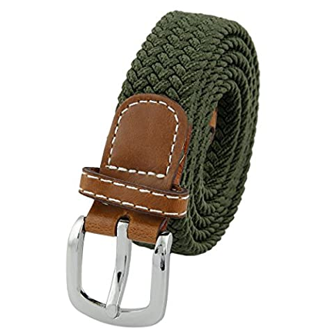 Shanxing Women's Belt Braided Elastic Fabric Stretch Elasticated Belts,Army Green