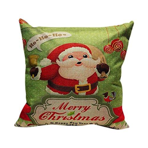 Coversolate Sofá de Navidad Decoración para el Hogar Festival Funda de Almohada Funda de Cojín (O)