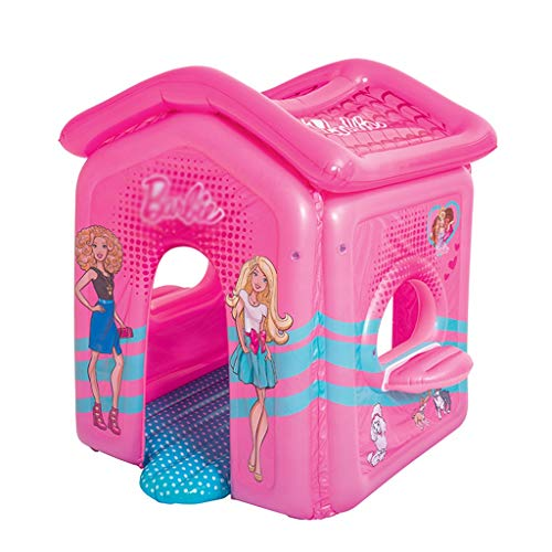 Bouncy Castles Children's Toys Pink Play House Inflatable Castle Children's Slide Trampoline Household Toys Children's Outdoor (Color : Pink, Size : 150 * 135 * 142cm)