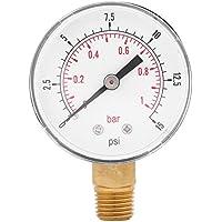 Medidor de presión baja para combustible, aire, aceite o agua 0-15psi/0-1bar BSPT, montaje inferior