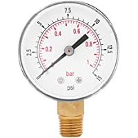 "0-15 psi 0-1bar Indicador de Presión de Servicio Digital Manómetro de Baja Presión de Escala Doble 52mm 1/4"" NPT"