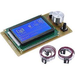 Anet 12864 Lcd Smart Pantalla de VisualizaciónMódulo Controlador con Cablepara Ramps 1.4 ArduinoMega Pololu ShieldArduino ReprapKit Impresora 3D Accesorio