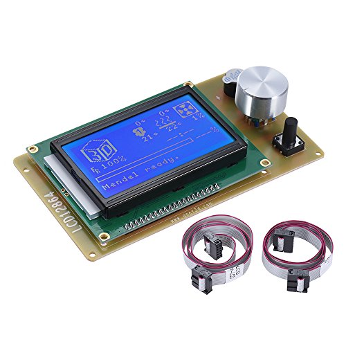 Aibecy Display LCD12864 per Anet Stampante 3D - Modulo Smart Display Controller Schermo con Cavo, Kit Stampante 3D di Accessori per RAMPE 1.4 Arduino Mega Pololu Shield Arduino Reprap