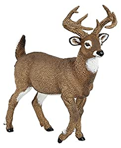 Papo- White-Tailed Deer Figura, Multicolor (53021)
