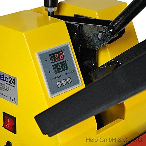 HELO Transferpresse 38 x 38 cm Standard mit Druckausgleichsfedern und verbesserter Hebeltechnik - 2
