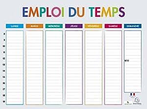 Exacompta 34510e multicolore emploi du temps calendrier for Fabriquer tableau magnetique