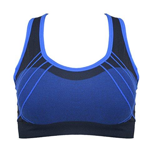 WKAIJCC Donna Sport Reggiseno Biancheria Intima Yoga Idoneità Nessuna Traccia Raccogliere Gilet Comodo Casual A