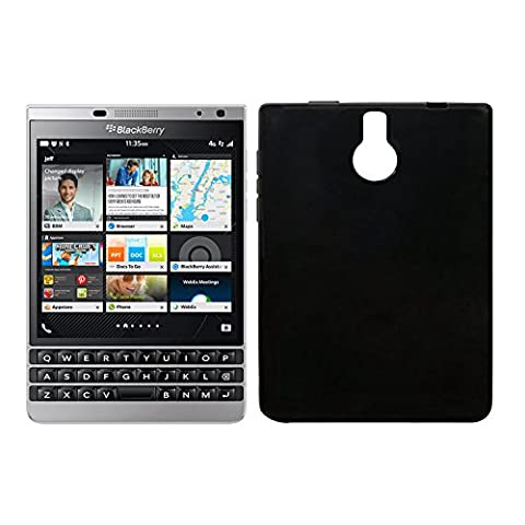 Owbb Coque Silicone pour Blackberry Passport Silver Edition Housse TPU Anti-Rayures - noir