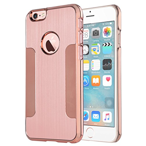 iPhone 6 Hülle, ULAK iPhone 6s Hülle Luxus Chrom Hybrid Hart Schutzhülle Case Cover für Apple iPhone 6/6s 4.7 Zoll (Rosé Gold) Rosé Gold