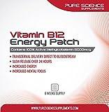 Pure Science Transdermale Vitamin B12 5000mcg Pflastern - 6 Wochen Versorgung