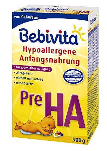 Bebivita Pre HA, Hypoallergene Anfangsmilch - von Geburt an, 4er Pack (4 x 500g)