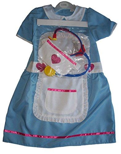 Imagen de niña disfraz de enfermera y estetoscopio set 5 años de edad 6 7 años