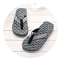 Ablaze Jin-eu mens slippers Comfortable Massage Flip Flops Sandals Male Slipper Indoor Outdoor Flip-Flops Casual Beach Shoes1,Blue,8.5