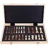 Roeam Schackspelträ, bärbart magnetiskt schackbräde hopfällbart internationellt schackset för festfamiljeaktiviteter, 40 × 40