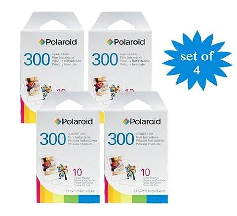 4 Pack du Polaroid Instant Film PIF-300 pour la caméra