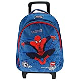 Vadobag-Grand cartable à roulettes Spiderman Ultimate - Bleu