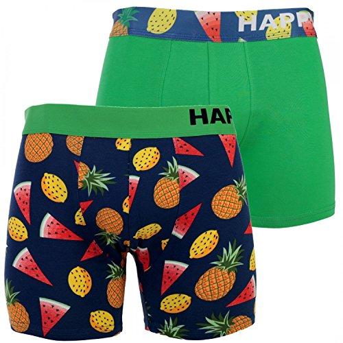 Happy Shorts 2 Pants Herren Boxershorts Boxer witzige Designs Farbwahl, Grösse:S - 4-48, Präzise Farbe:Design 2