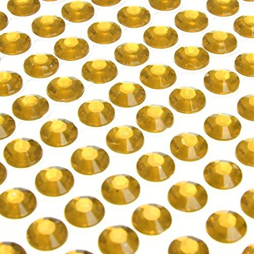 Selbstklebende Strass Kristall Bling Aufkleber Handy PC Auto Decor gold ()